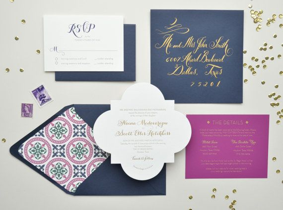 Gala wedding invitations royal imprints