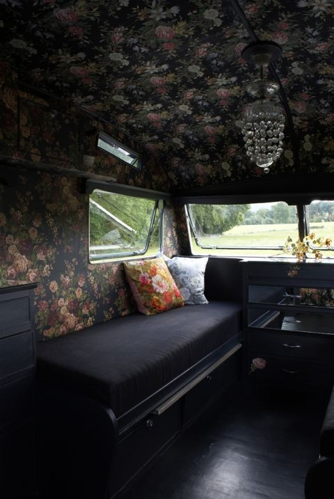 gorgeous camper trailer (from my cool caravan) //@Teresa Gray This would be an example of what I want to do to the camper. Lol