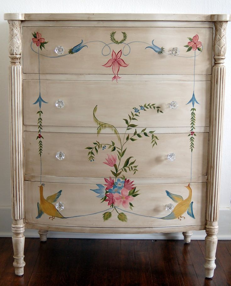 idea for painting a dresser