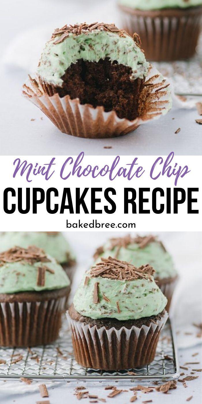 mint chocolate chip cupcakes recipe mint chocolate chocolate chip cupcakes cupcake recipes pinterest