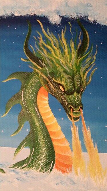 Drakendroom muurschildering