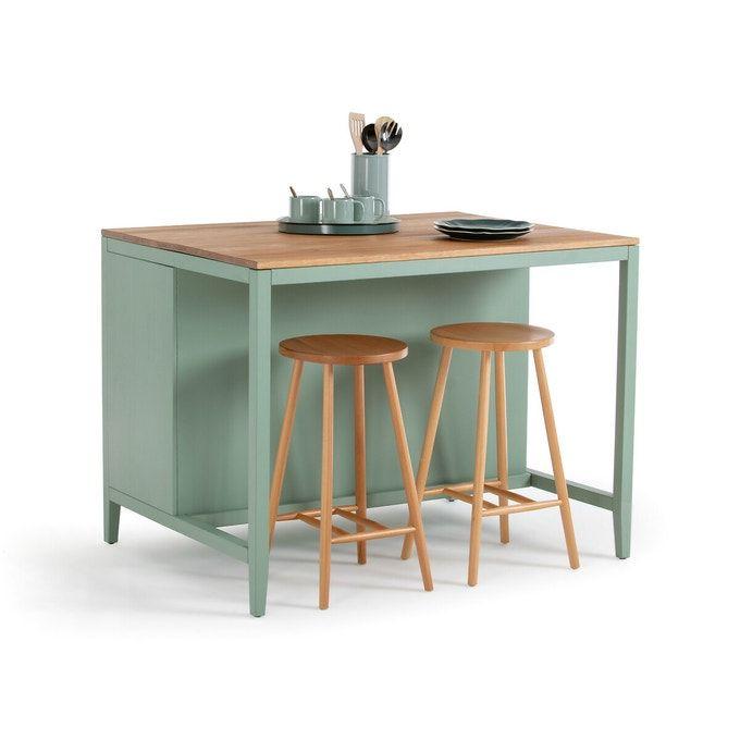 Ilot De Cuisine Carlos Pin Vert Naturel La Redoute Interieurs La Redoute En 2020 Meuble Cuisine Ilot Cuisine Mobilier De Salon