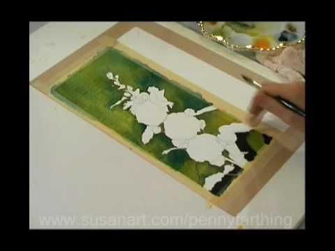Watercolor Lesson with Susan Harrison-Tustain .. Painting Backgrounds