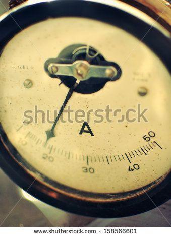 Old vintage analog ammeter