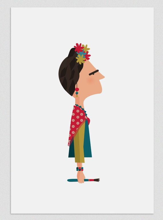 Illustration Frida by Tutticonfetti on Etsy, $15.00