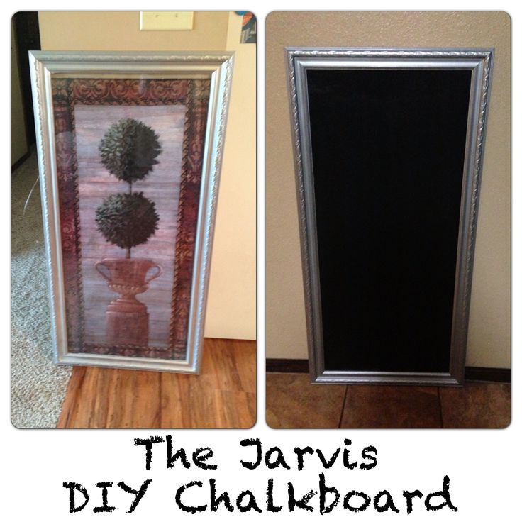 15 Whimsical Kitchen Designs With Chalkboard Wall: $15 Goodwill Art Piece + Fresh Paint Job + Martha Stewart