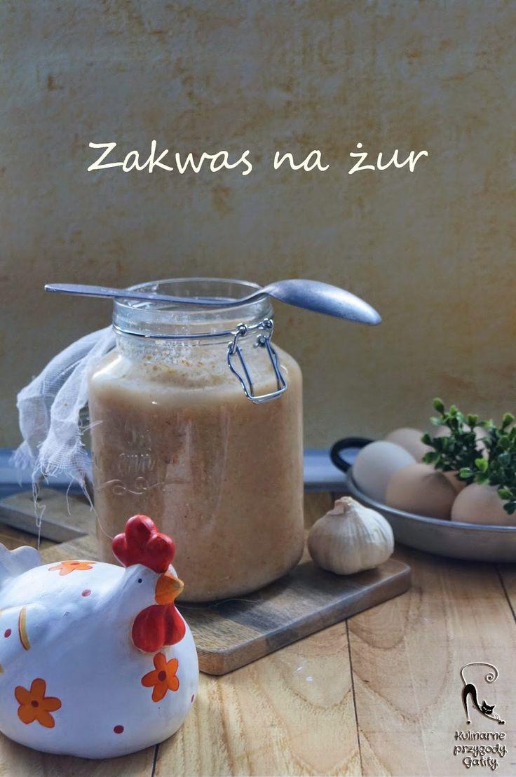 Kulinarne przygody Gatity: Zakwas na żur na mące razowej pszennej