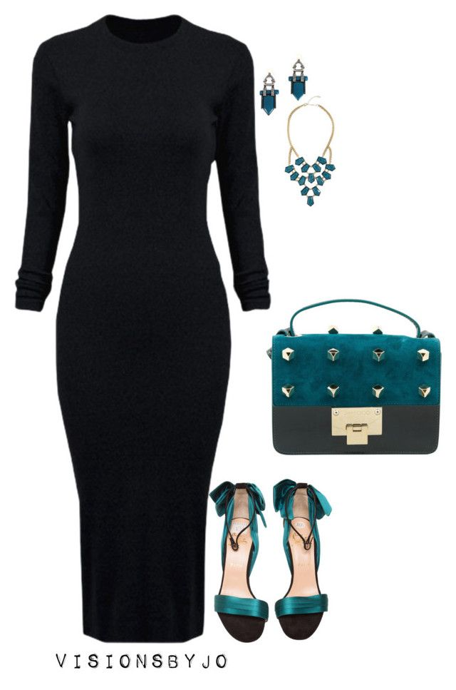 """""""Untitled #1344"""" by visionsbyjo on Polyvore featuring WithChic, Christian Louboutin, Jimmy Choo, GUESS by Marciano, women's clothing, women's fashion, women, female, woman and misses"""