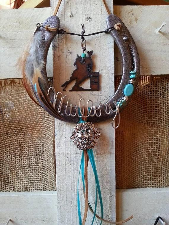 Decorated Horseshoe Cowgirl Gifts Horseshoe Decor Horseshoe Art
