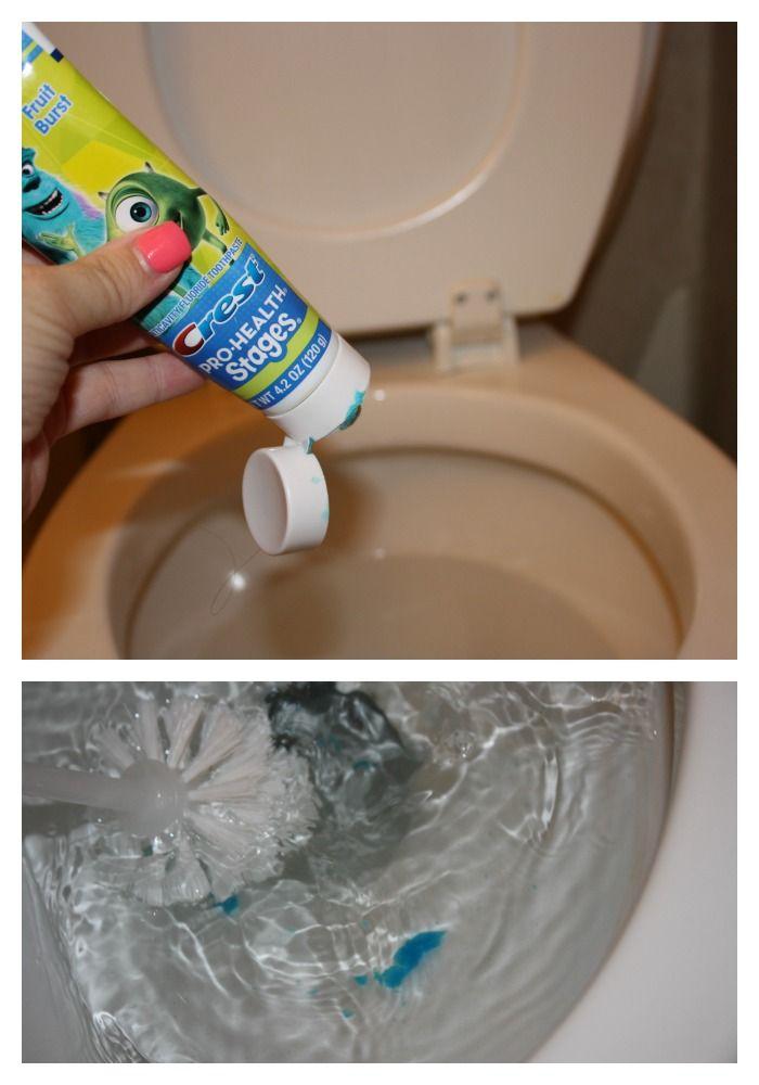 Toilet schoonmaaktruc tandpasta is gemaakt voor het schoonmaken van het porselein op je tanden, dus het werkt ook voor de wc.