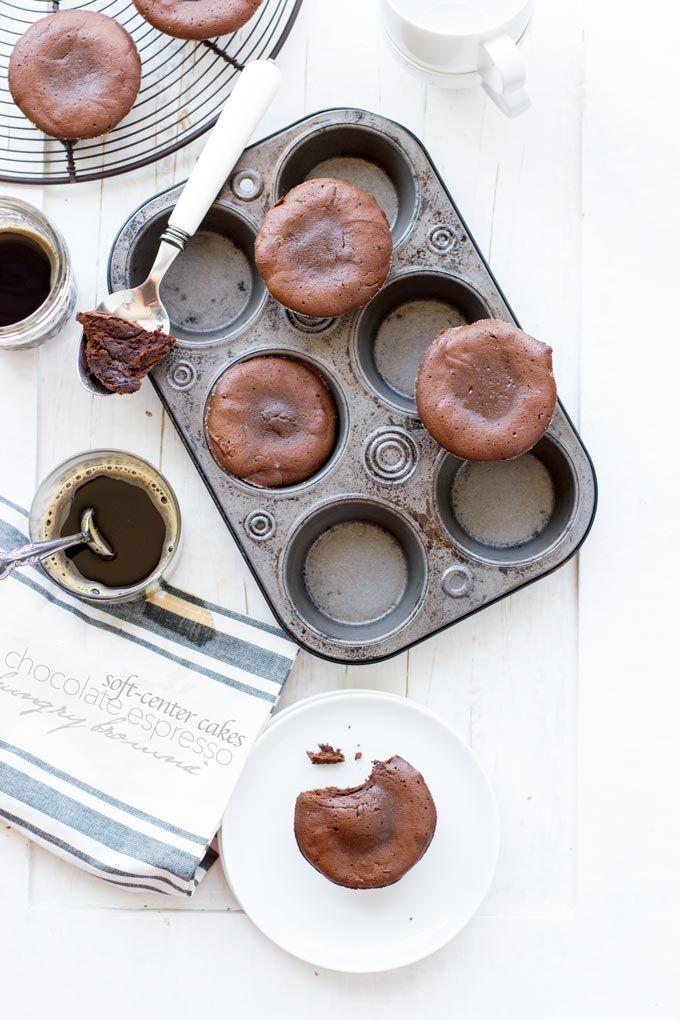soft-center chocOlate espresso cakes