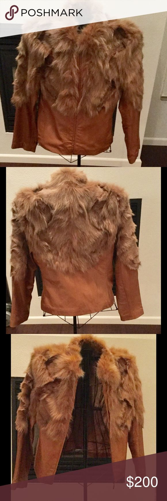 Andrew Marc Leather Jacket with Fur Andrew Marc Leather Jacket with Fur Mark Andre Jackets & Coats