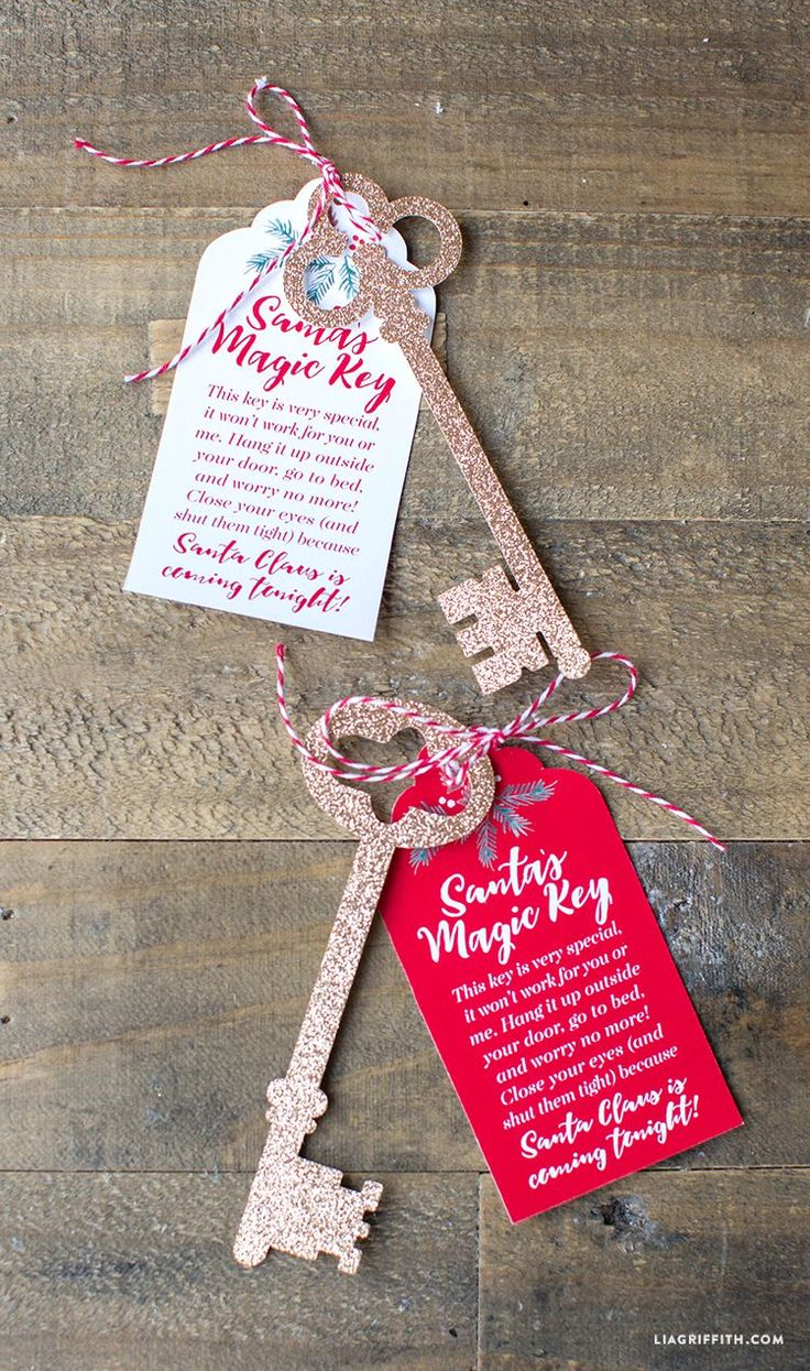 Don't have a chimney? Save Christmas by printing your own Santa's Magic Key this Holiday the kids will thank you! Download by Lia Griffith and her team of elves.