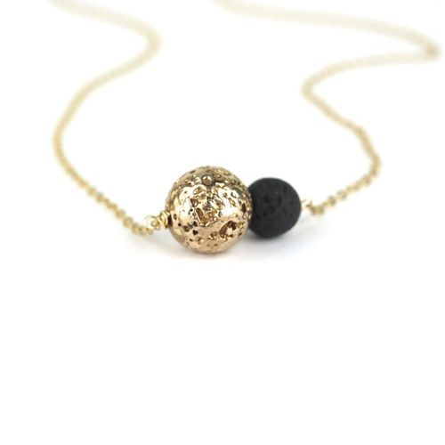 Duo Lava Necklace by everli jewelry