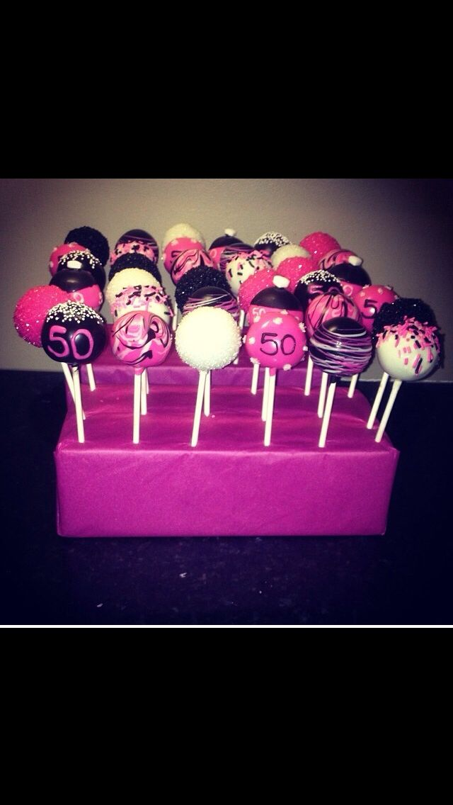 Pink, Black and White Pops!