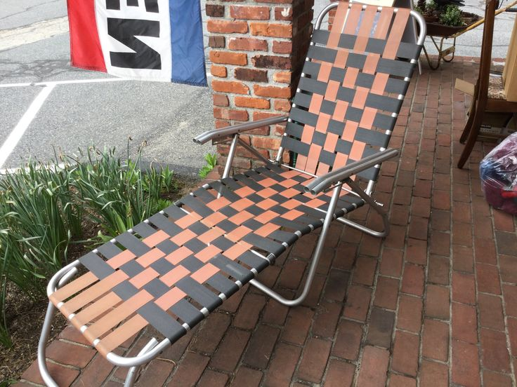 Best 25 chaise lounge outdoor ideas on pinterest for Aluminum web chaise lounge