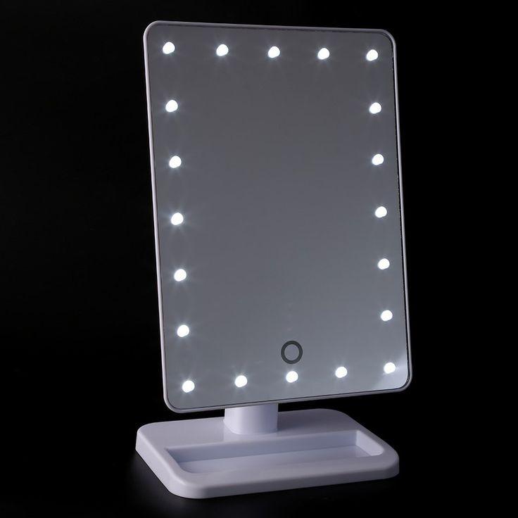 Cute Kosmetikspiegel mit Licht Tragbaren Tisch LEDs Lampenlicht Rotating Led licht lampe Schminktisch