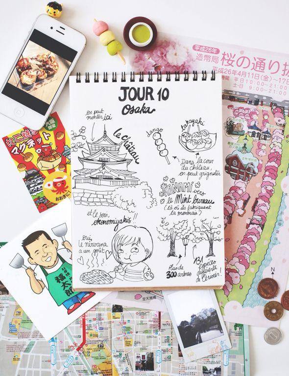 My Japan Travel Diary Day 10 : Osaka Castla & Hanami au Mint www.tokyobanhbao.com