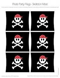 printable pirate party flags - for jello/orange ships