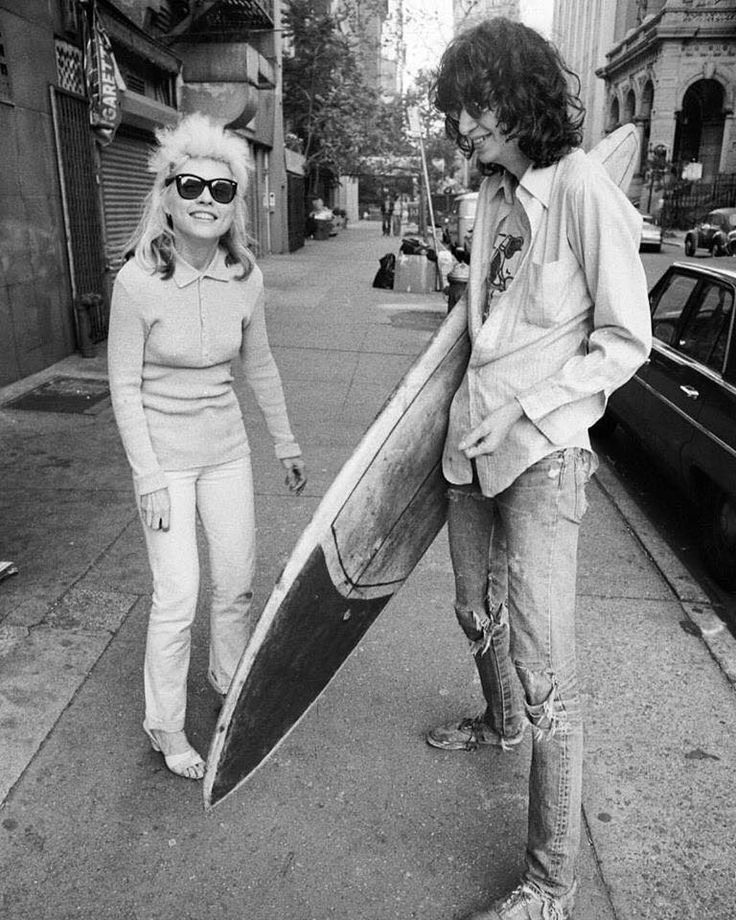 "baldespendus:  "" Debbie Harry & Joey Ramone. New York, 1977. By Chris Stein.  """