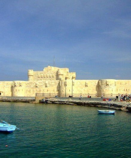 The Citadel of Qaitbay is a 15th century Islamic fortress built to protect the city from invading Crusaders, and today it is one of the most popular tourists attractions in Alexandria. The Qaitbay Citadel is located on the northeast part of Pharos Island, on the exact spot that was once home to the famous lighthouse of Alexandra.