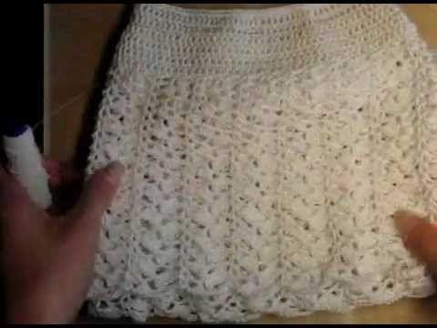0 Как связать пляжную юбку, образец, материалы - YouTube