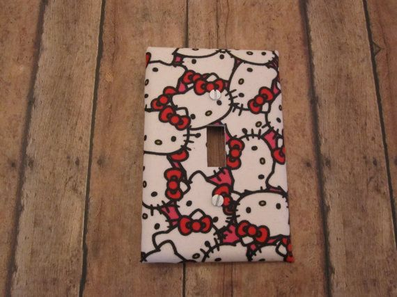 Hello Kitty Theme Switch Plate Cute for by KumbierKreations, $8.00