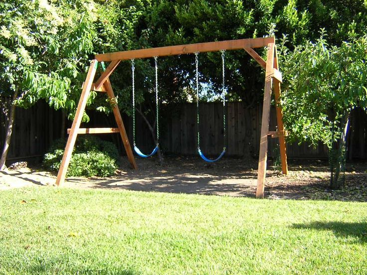 1000 ideas about wooden swing set kits on pinterest for Do it yourself swing