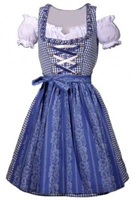 love the patterned skirt  ANKE DIRNDL BLAU WEISS KARO MINI 55 CM COUNTRY LIFE LEKRA