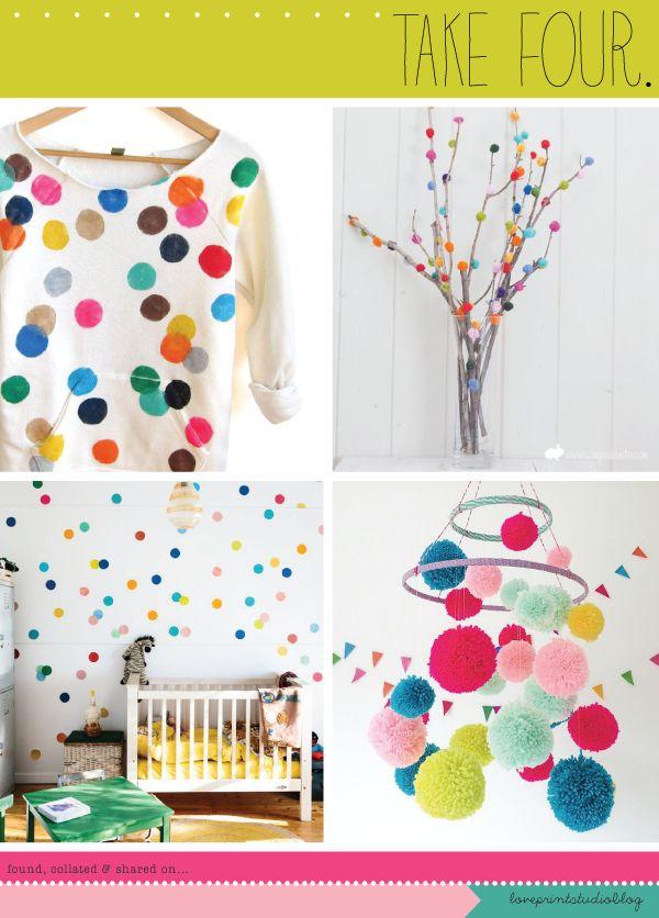 love print studio blog: Take Four...dotty, polka dot, confetti sprinkled, crafty loveliness!