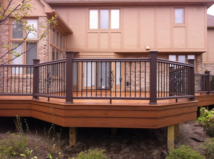 Two Tone Deck Ideas All Finished Up Deck And Patio