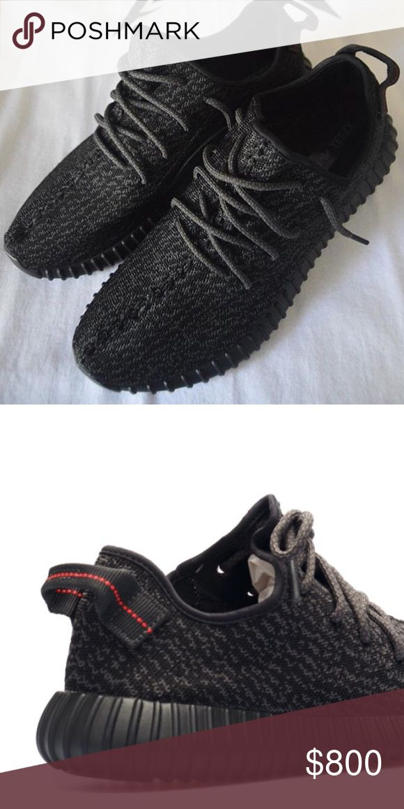 "Yeezy boost 350 ""Pirate Black"" Yeezy boost 350 in ""pirate black."" Never worn! Way too big for me! Bought originally looking to trade for a different size/color. $1250 on flight club. Yeezy Shoes Sneakers"