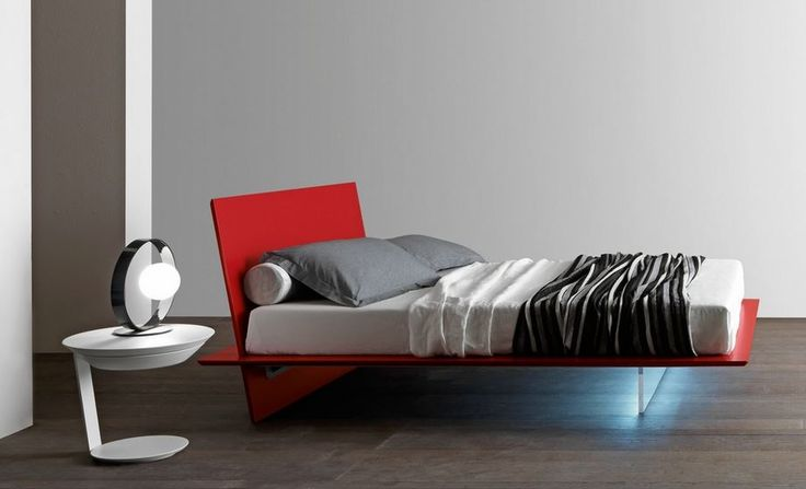 Cool floating bed with under bed lighting available in 32 colours!