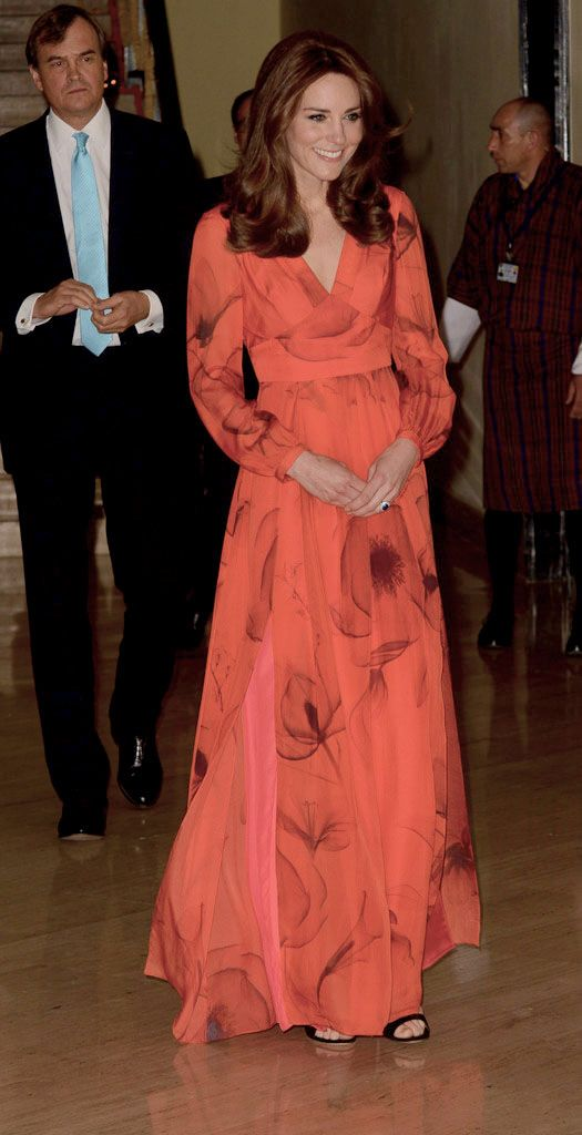 Catherine, Duchess of Cambridge attends a reception celebrating UK and Bhutanese friendship and cooperation at the Taj Hotel on April 15, 2016 in Thimphu, Bhutan.