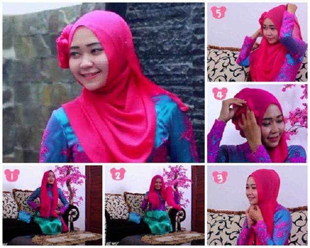 Tutorial Hijab Pesta Glamour