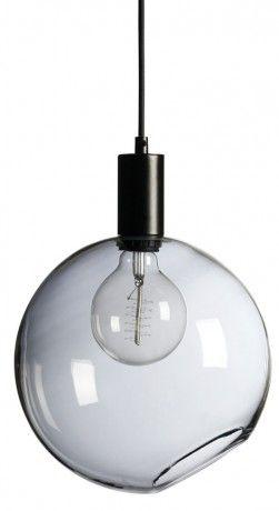 906115 Hollie taklampa rökt glas