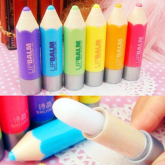 $2.45 1pc Candy Colors Pencil Lipstick Clear Lip Balm Lip Gloss - BornPrettyStore.com