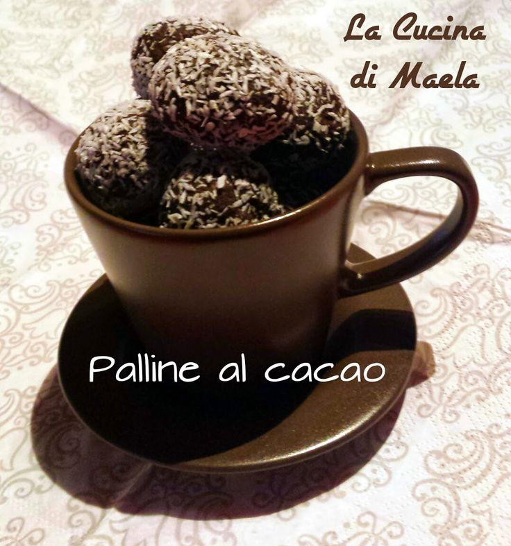 La cucina di Maela: Palline al cacao ricoperte di cocco