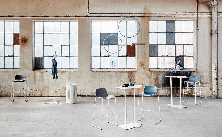 Bin waste basket, design: Front | Amore table, design: Thomas Eriksson | Neo Lite bar stool, design: Fredrik Mattson | Gobble coat stand, design: Thomas Bernstrand | Styling: Katrin Bååth | Photo: Sara Landstedt