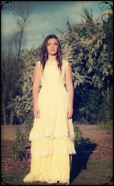 Tilly, full length vintage inspired bridesmaid dress, designed by Vintage Bleu nz.   Vintage Bleu