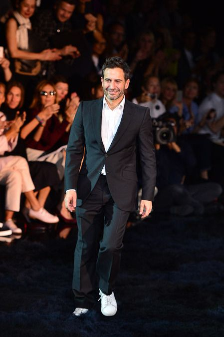 Marc Jacobs at the end of the show