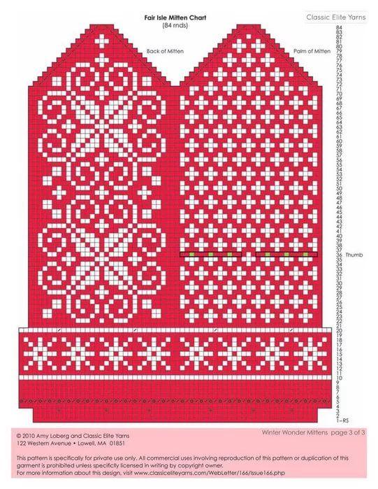 красивые узоры для варежек спицами схемы: 14 тыс изображений найдено в Яндекс.Картинках