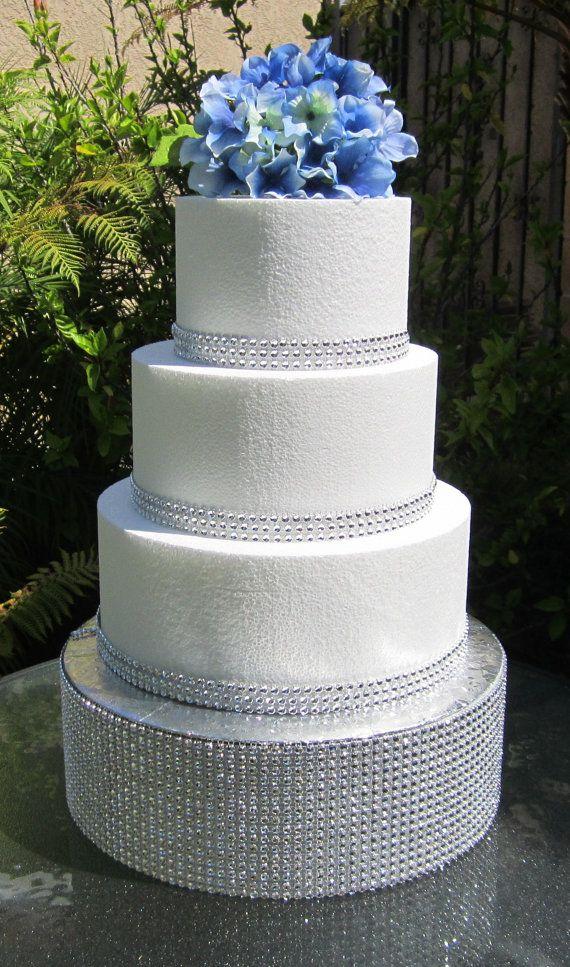 Round Wedding Cake Stand Rhinestone Diamond by ClassyCakeStands