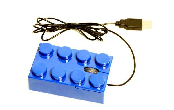 LEGOブロック型ワイヤードマウス