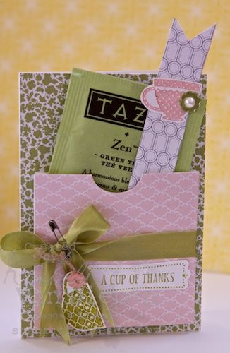 Tea Shoppe Stamp set.  Better look at the cute Tazo TEA poppin' out.