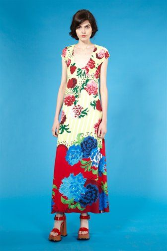beautiful floral dress for Spring! Marc Jacobs Oversized Floral Satin Dress #fashion #womensfashion