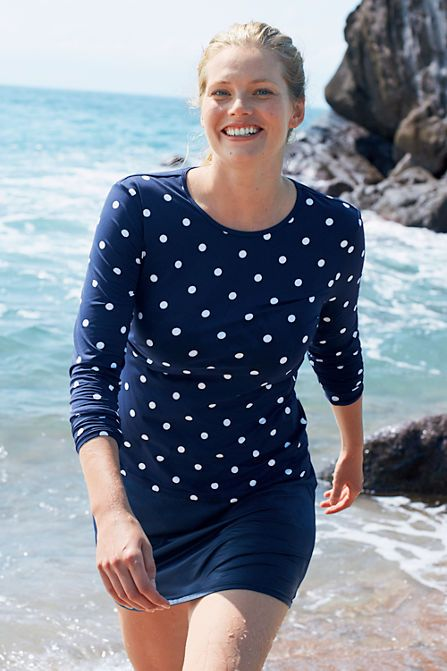 Women S Modest Swimwear From Lands End Quality Made Rash