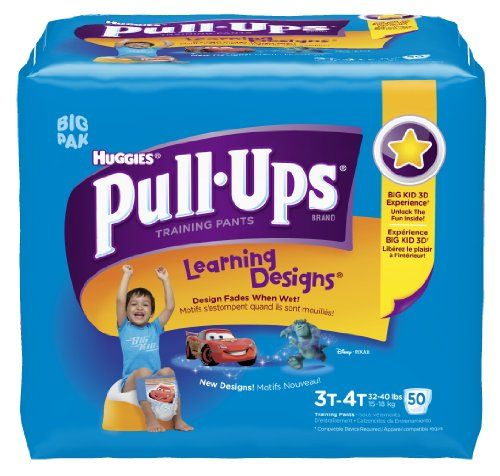 Pull-Ups Learning Design Training Pants, Size 3T-4T, Boy, 50 Count (Pack of 2) | Multi City Health  List Price: $47.36 Discount: $8.94 Sale Price: $38.42