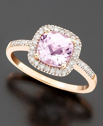 rose gold, purple amethyst, and diamonds. i want!