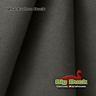 Charcoal Grey - 12oz Cotton Canvas / Duck Cloth